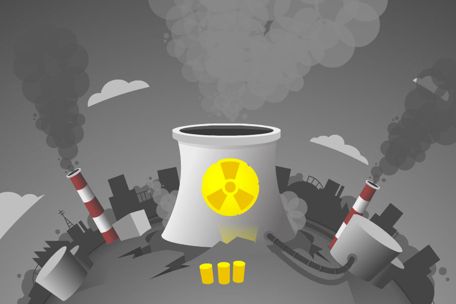 nuclear reactor illustration